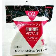 Hario V60 02 White Filter Papers 100 pcs